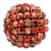 Swarovski Bead 40515 Round 15mm Red Magma Crystal